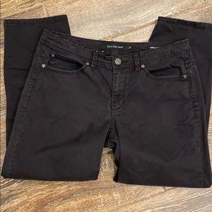 Calvin Klein Jeans Black Skinny Crop Size 12